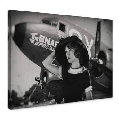 Leinwandbild Allicot - The 50s Girl