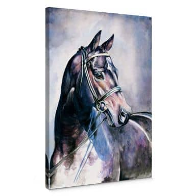 Leinwandbild Aquarell eines Pferdes