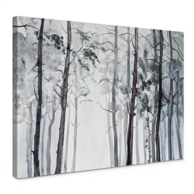 Leinwandbild Aquarell Wald