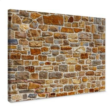 Arizona Stone wall Canvas print