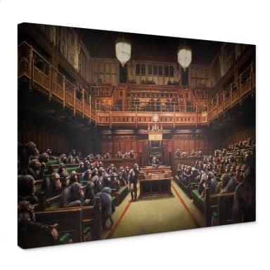 Tableau en toile Banksy - Parlement délégué