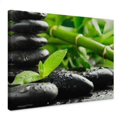 Leinwandbild Black Zen Stones