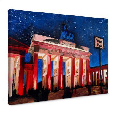 Canvas Berlijn onder de sterrenhemel
