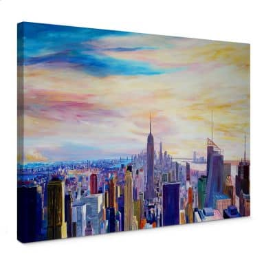Canvas Bleichner - Uitzicht op New York City