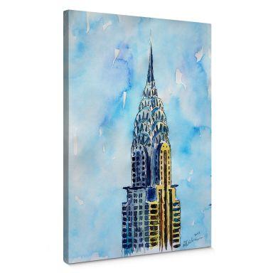 Leinwandbild Bleichner - Chrysler Building in NYC
