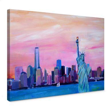 Leinwandbild Bleichner - New York Freiheitsstatue