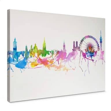 Canvas Print Bleichner - Munich Skyline