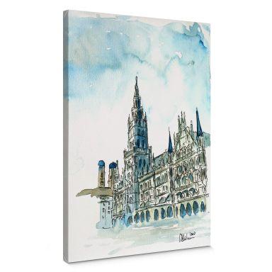 Leinwandbild Bleichner - Münchener Rathaus