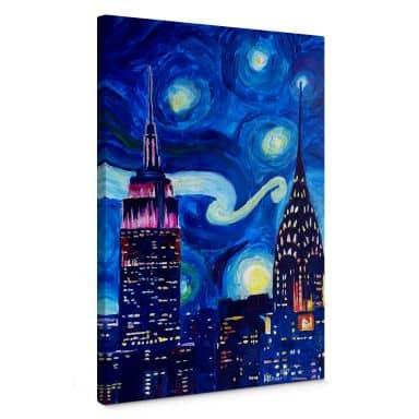 Leinwandbild Bleichner - New York bei Nacht