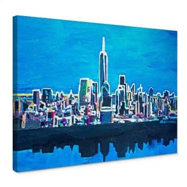 Leinwandbild Bleichner - New York City im Neonschimmer