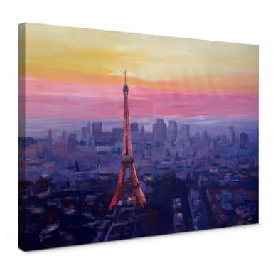 Leinwandbild Bleichner - Pariser Eiffelturm in der Abenddämmerung