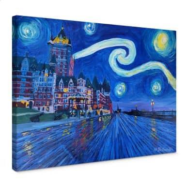 Leinwandbild Bleichner - Starry Night in Quebec