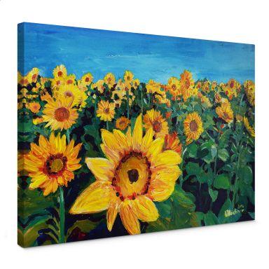 Leinwandbild Bleichner - Sunflower Fields
