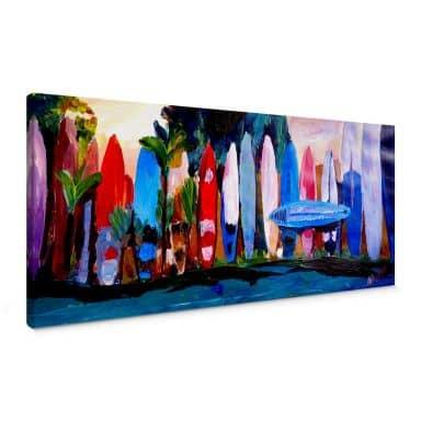 Bleichner - Surf Wall - Panorama Canvas print
