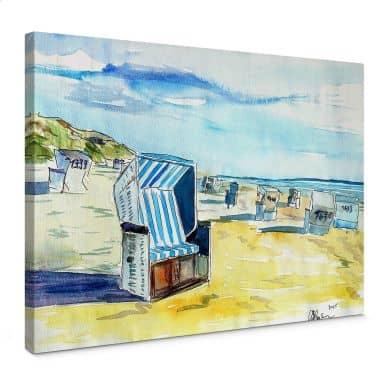 Bleichner - Sylt Beach Canvas print