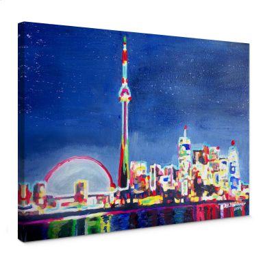 Leinwandbild Bleichner - Toronto im Neonschimmer