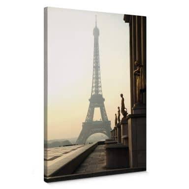 Tableau sur toile Bonjour Paris