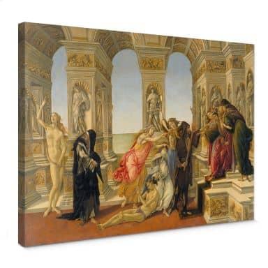 Botticelli - The Callumny of Apelles Canvas print