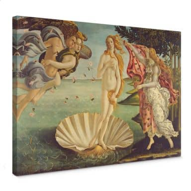 Leinwandbild Botticelli - Geburt der Venus