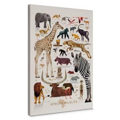 Canvas Braun - Afrika