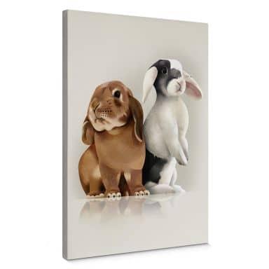 Leinwandbild Braun - Bunny Love
