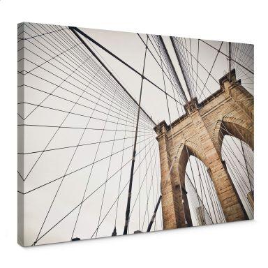 Leinwandbild Brooklyn Bridge - Perspektive 02