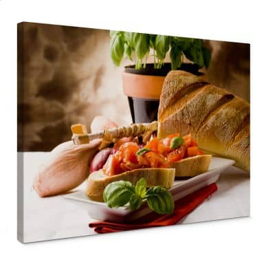 Italian Bruschetta Canvas print
