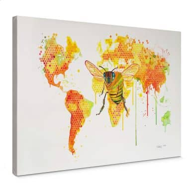 Leinwandbild Buttafly - Bees World