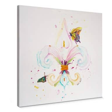 Leinwandbild Buttafly - Fleur de Lil