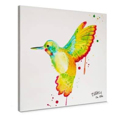Buttafly - Humming-bird Canvas print square