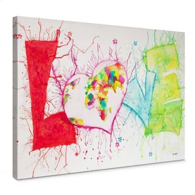 Leinwandbild Buttafly - Love