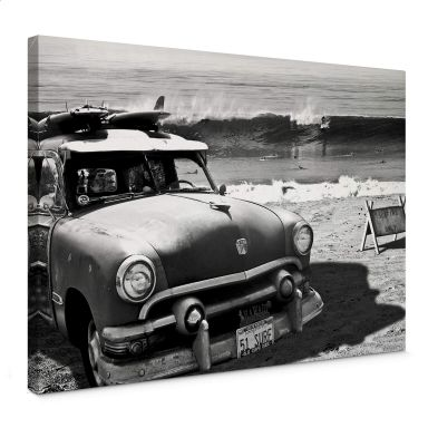 Leinwandbild Butterworth - Surfing on Hawaii