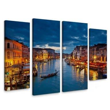 Leinwandbild Canal Grande in Venedig (4-teilig)