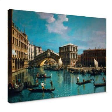 Leinwandbild Canaletto - Die Rialtobrücke in Venedig
