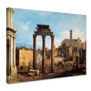 Leinwandbild Canaletto - Forum mit Tempel von Kastor und Pollux