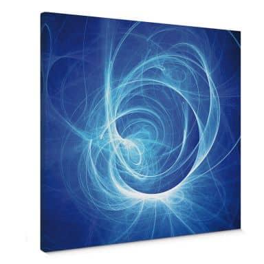 Leinwandbild Chaos Ray blau