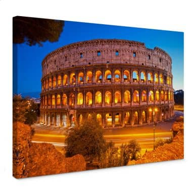 Leinwandbild Colosseum bei Nacht