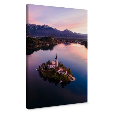 Leinwandbild Colombo - Bleder See in Slowenien