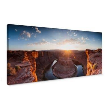 Leinwandbild Colombo - Das Horsebound am Colorado River - Panorama