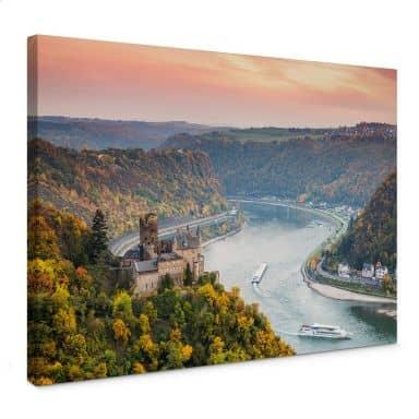 Leinwandbild Colombo - Der Rhein im Herbst