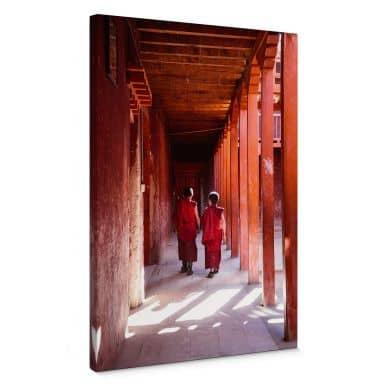 Leinwandbild Colombo - Mönche in Nepal