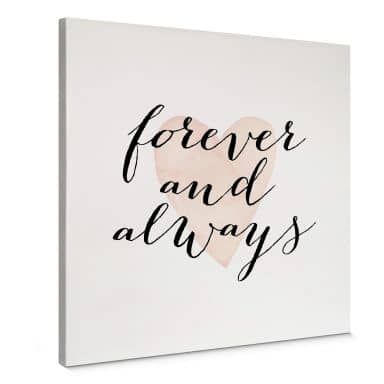Tableau sur toile Confetti & Cream - Forever and always