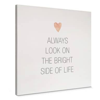 Tableau en toile Confetti & Cream - Always look on the bright side of life - carré