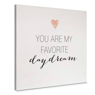 Leinwandbild Confetti & Cream - You are my favorite daydream