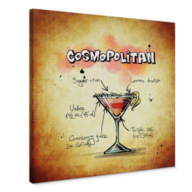 Leinwandbild Cosmopolitan - Rezept