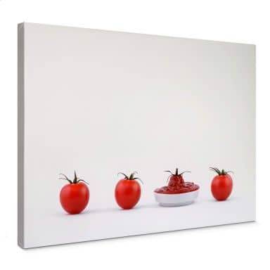 Canvas Csontos - Once there were four tomatoes