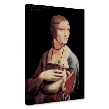 Leinwandbild da Vinci - Die Dame mit dem Hermelin