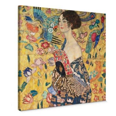 Stampa su tela - Klimt - Donna con ventaglio