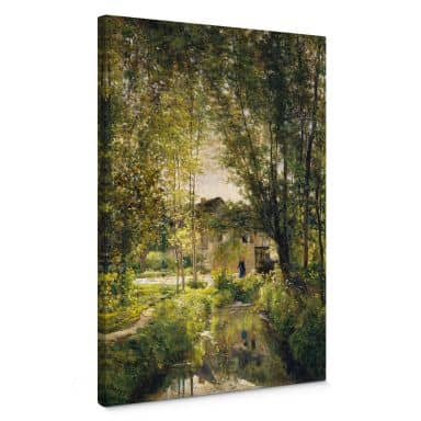 Leinwandbild Daubigny - Landschaft mit Sonnenlicht