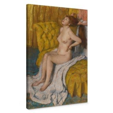 Leinwandbild Degas - Eine Frau bekommt ihr Haar gebunden